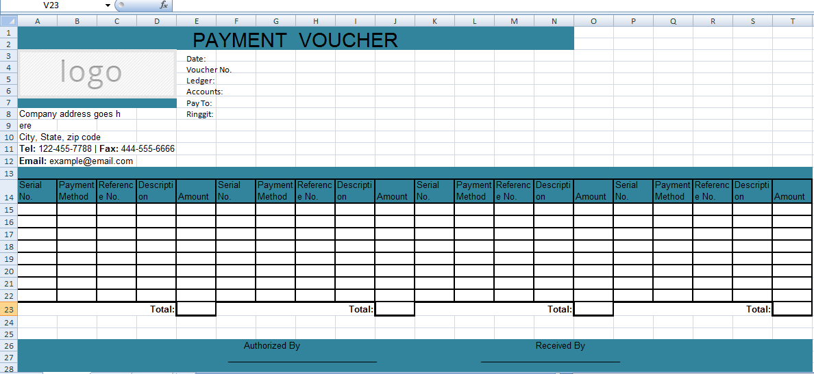 Check Voucher Template get excel payment voucher template xls – Sample Check Voucher