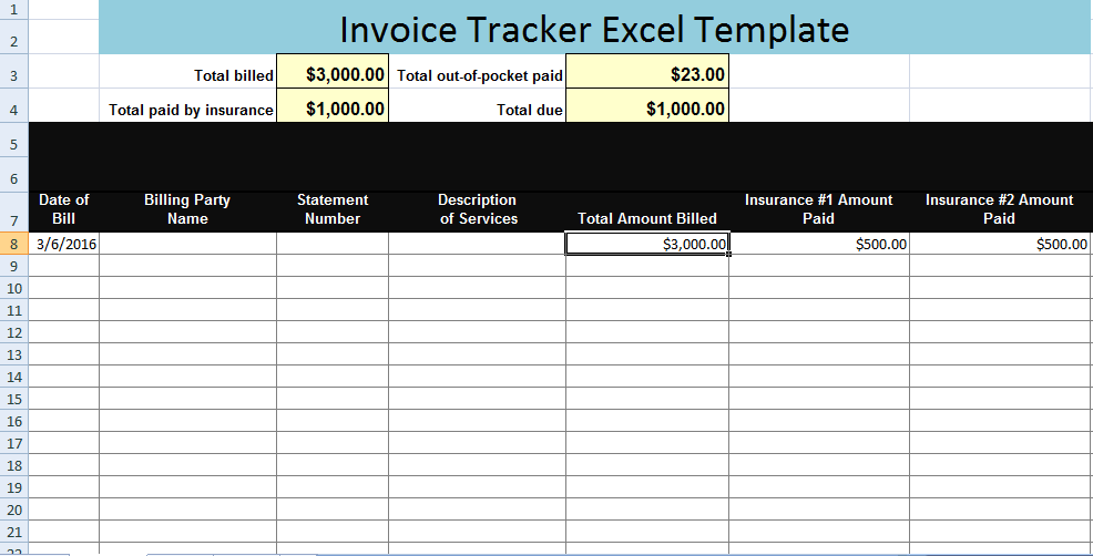 invoice tracking template – neverage, Invoice templates
