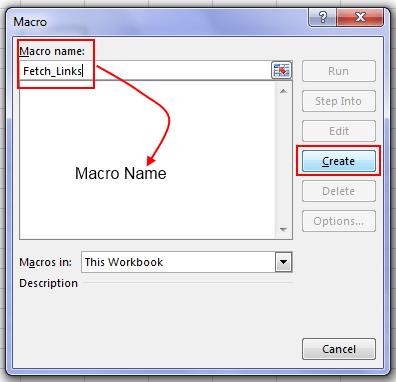 Create Macro In Excel