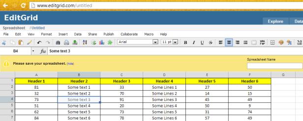 Edit Grid Online Xls Viewer
