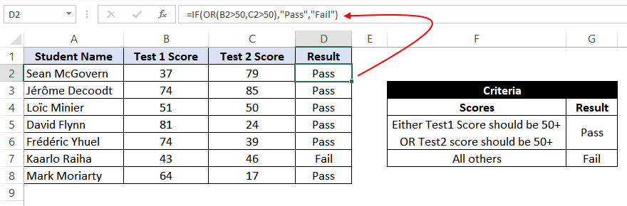 if or statement excel