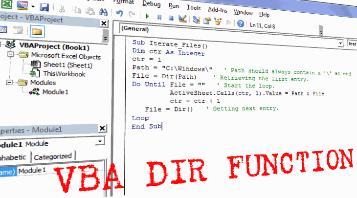 VBA DIR Example