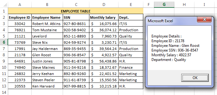 Message Box Output Example 4