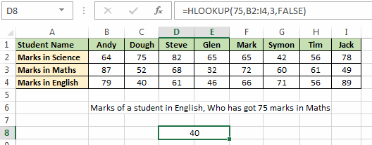 H_Lookup Example 01