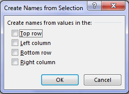Create Names from Selection