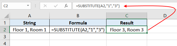 Excel-SUBSTITUTE-function-Example-01