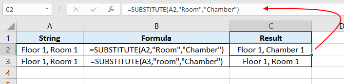 Excel-SUBSTITUTE-function-Example