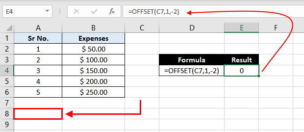 Offset-Function-In-Excel-Example-02