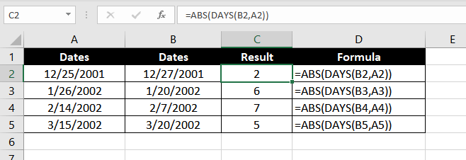 DAYS_Function_Excel_002