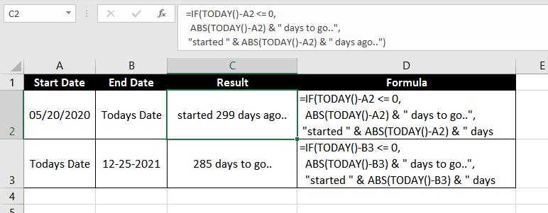 Subtract-Dates-In-Excel