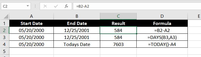 Subtract-Dates-In-Excel-01