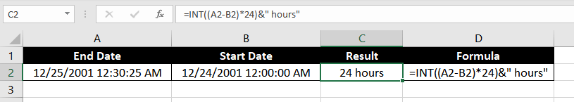 Get Difference Between Two Dates in Hours