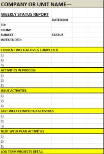 weekly-status-report