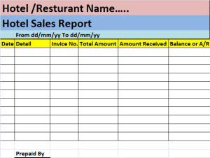 hotel-sales-report