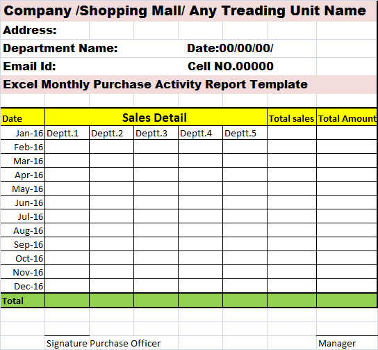 Monthly Activity Report Template. marketing report sample market ...