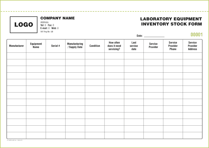 Equipment Inventory List Template606  Inventory Stock List