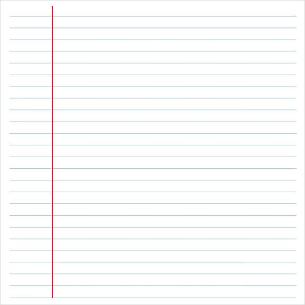 6 Notebook Paper Templates Word Templates – Template for Notebook Paper