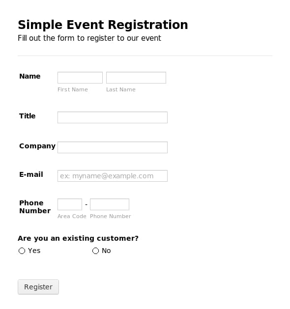 5 registration form templates word word templates sample event registration form pronofoot35fo Image collections