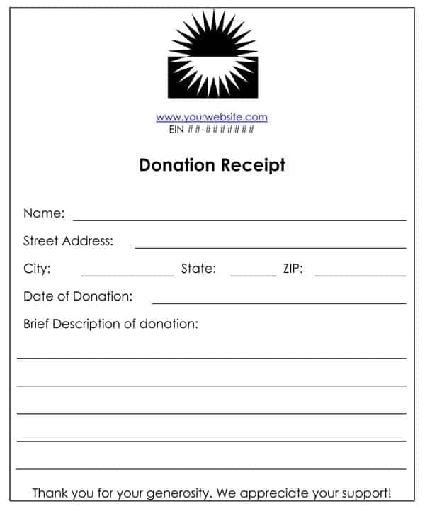 6 Cash Or Funds Donation Receipt Templates Word Templates