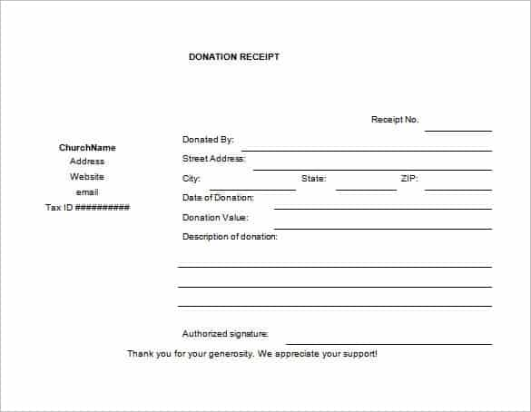 6 Cash Or Funds Donation Receipt Templates Word Templates – Donation Slip Sample