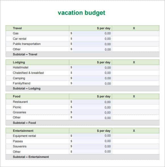 trip cost planner