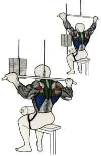 ejercicio para espalda polea tras la nuca