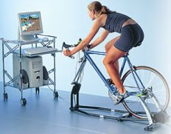 ejercicio en bicicleta fija