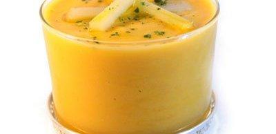 Crema de calabaza y queso