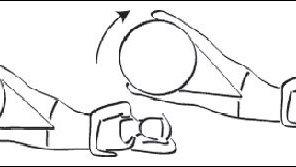 Ejercicio para aductores con pelota suiza
