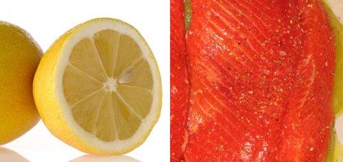 Trucha al limón