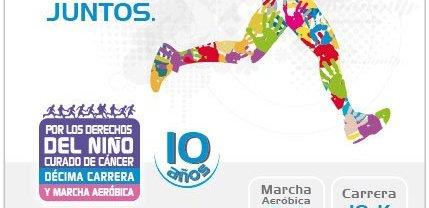 """salud 10 º Carrera y Marcha Aeróbica """"Por los derechos del niño curado de cáncer"""""""