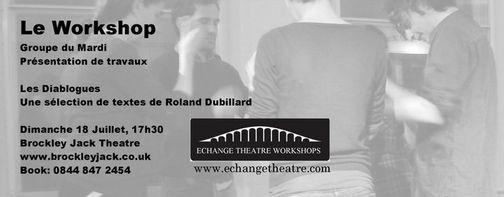 bannière spectacle théâtre diablogues roland dubillard le workshop