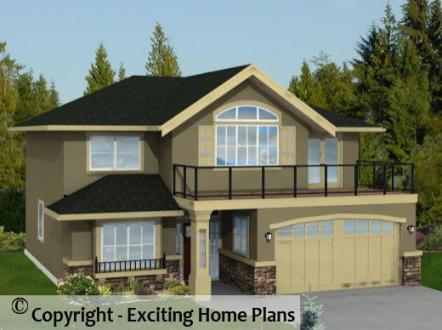 Modern House  Garage   Dream Cottage Blueprints by Exciting Home Plans Monashee   Home Design   Front Photo