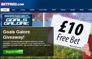 Betfred Goals Galore £10 Free Promotion