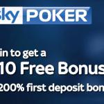 Sky Poker £10 No Deposit Bonus