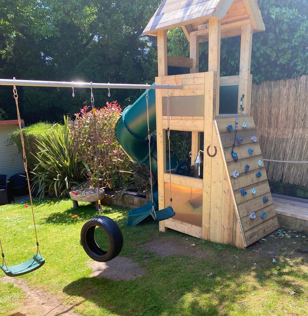 exclusiveexteriors image of climbing frame and slide