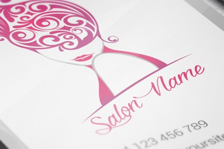 Vertical Beauty Salon Business Card     Premium Business Card Template         Vertical Beauty Salon Business Card   Premium Business Card Template 3