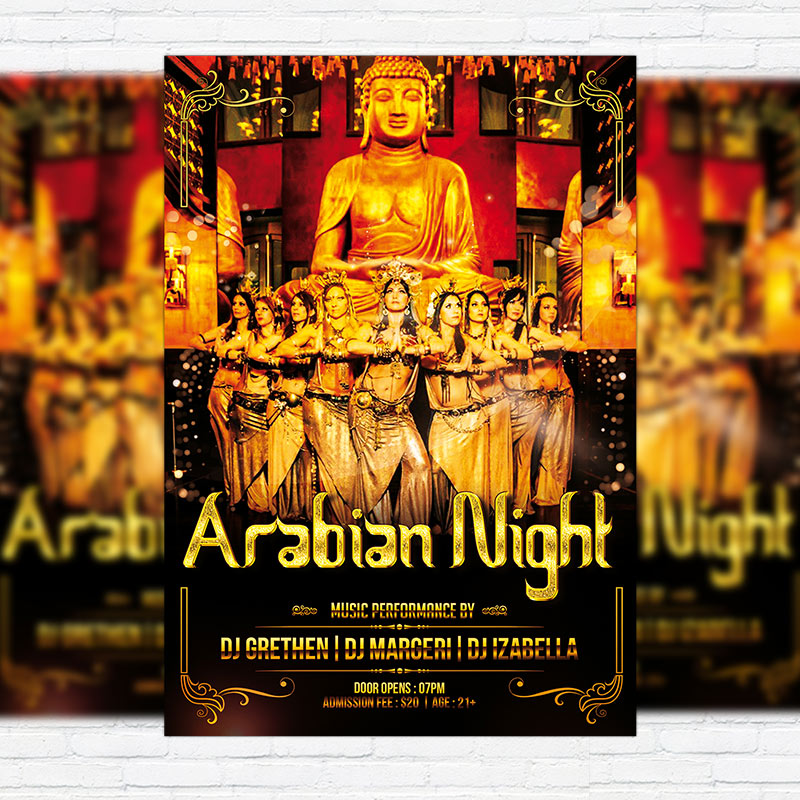 Arabian Night Premium Flyer Template Facebook Cover ExclsiveFlyer Free And Premium PSD