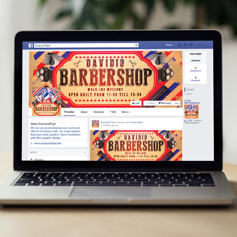 Barbershop Premium Flyer Template Facebook Cover ExclsiveFlyer Free And Premium PSD