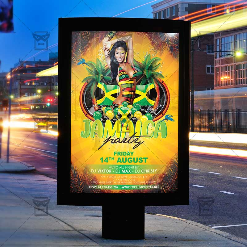 Jamaica Party Club A5 Flyer Template ExclsiveFlyer Free And Premium PSD Templates
