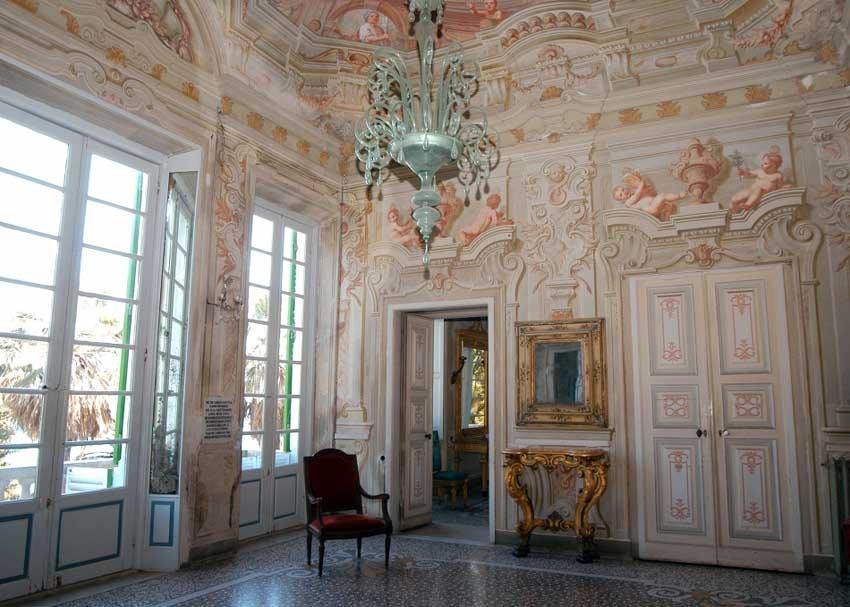 Elegant hall at Villa Durazzo