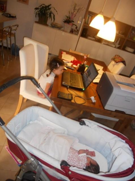 My little girls next to my laptop!