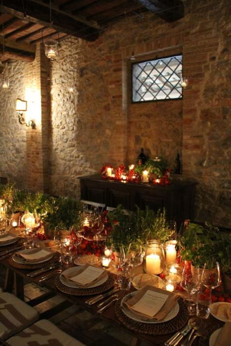 Dinner in a Tuscan cellar
