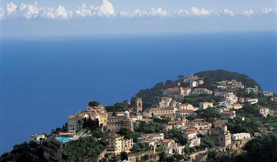 Aerial view of Ravello