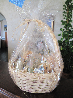 Welcome basket with local products