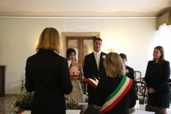 Wedding ceremony in Venice town hall