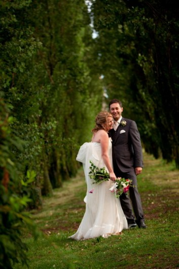 Bride and Groom in the gardens