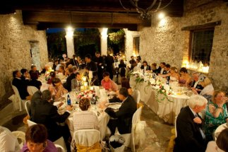 The loggia during the dinner