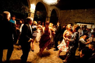 Dancing in the small Loggia