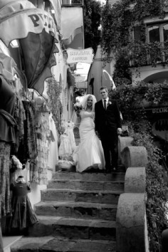A picture in the lovely via Leucosia in the heart of Positano
